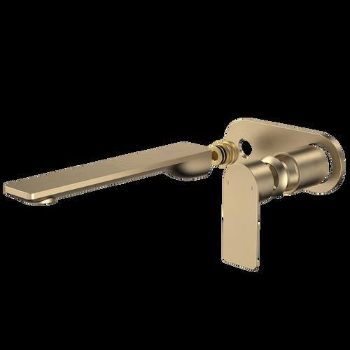 Urbane II 220mm Wall Basin / Bath Trim Kit - Round Cover Plate - Brushed Brass [196206]