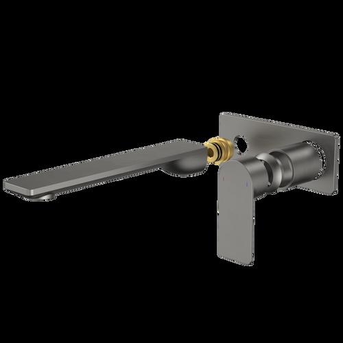 Urbane II 220mm Wall Basin / Bath Trim Kit - Rectangular Cover Plate - Gunmetal [196214]