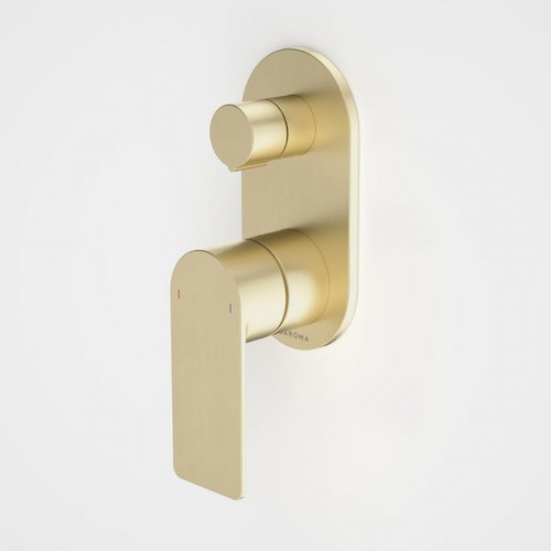 Urbane II Bath / Shower Mixer With Diverter - Round Cover Plate - Brushed Brass - Sales Kit [196240]