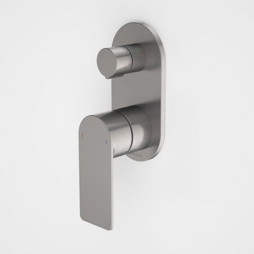 Urbane II Bath / Shower Mixer With Diverter - Round Cover Plate - Gunmetal - Sales Kit [196243]