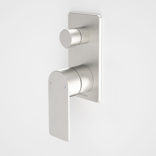 Urbane II Bath / Shower Mixer With Diverter - Rectangular Cover Plate - Brushed Nickel - Sales Kit [196246]