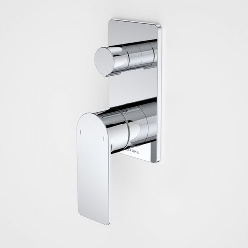 Urbane II Bath / Shower Mixer With Diverter - Rectangular Cover Plate - Chrome - Sales Kit [196247]