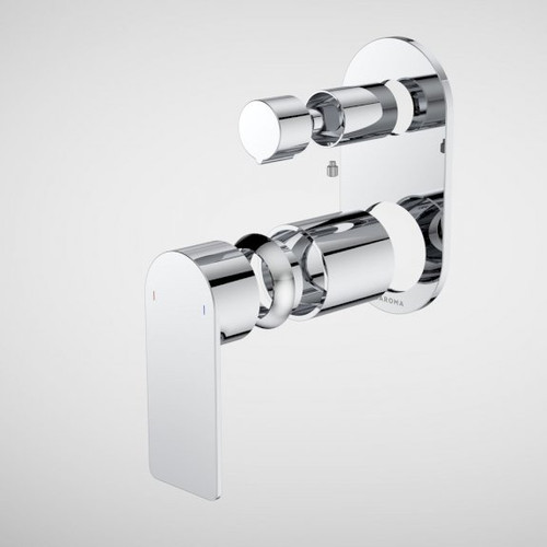 Urbane II Bath / Shower Mixer With Diverter Trim Kit - Round Cover Plate - Chrome [196256]