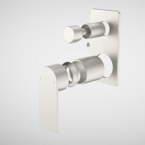 Urbane II Bath / Shower Mixer With Diverter Trim Kit - Rectangular Cover Plate - Brushed Nickel [196260]