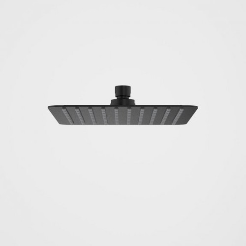 Urbane II Rain Shower - 200mm Square - 4 Star - Matte Black [196267]