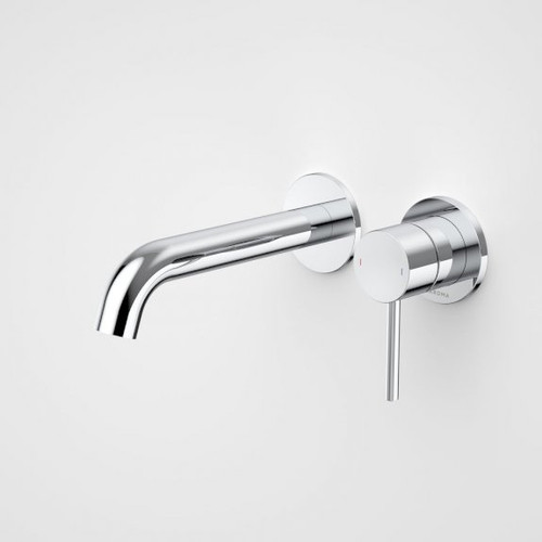 Liano II 175mm Wall Basin / Bath Mixer - 2 x Round Cover Plates - Chrome - Sales Kit [196010]