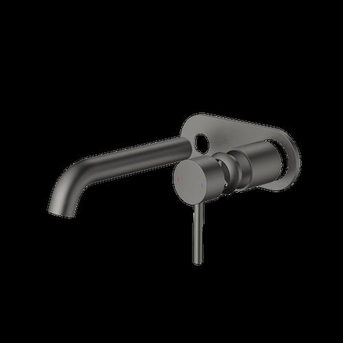Liano II 175mm Wall Basin / Bath Trim Kit - Rounded Cover Plate - Gunmetal [196026]