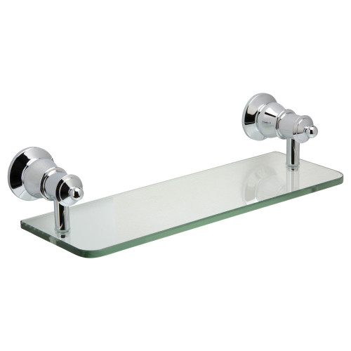 Lillian Chrome Glass Shelf 300mm [180019]