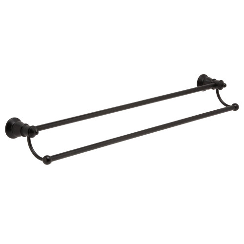 Lillian Matte Black Adjustable Double Towel Rail 800mm [169202]
