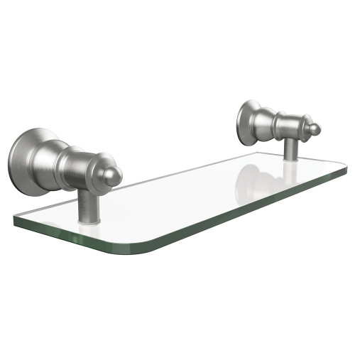 Lillian PVD Brushed Nickel Glass Shelf 300mm [169204]