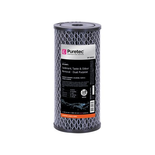 "Dual Purpose Carbon Water Filter Cartridge, 10"", MaxiPlus, 10 Micron [140709]"