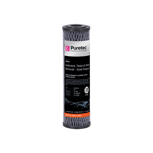 "Dual Purpose Carbon Water Filter Cartridge, 10"", 10 Micron [140725]"