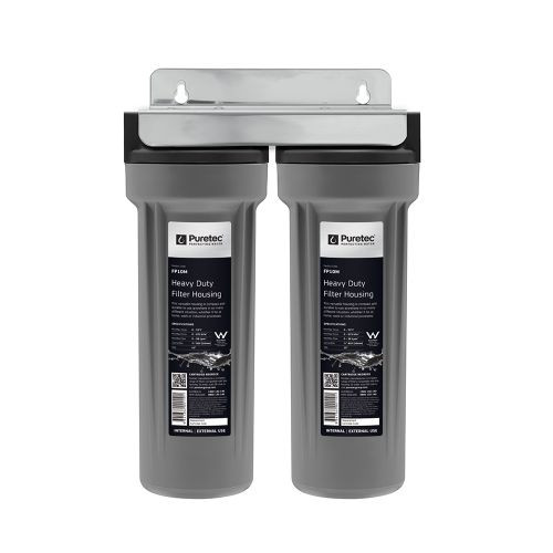 """Twin Water Filter Housing Assembly, 10"""", 3/4"""" Conn (kit & cartridges not included) [143661]"""