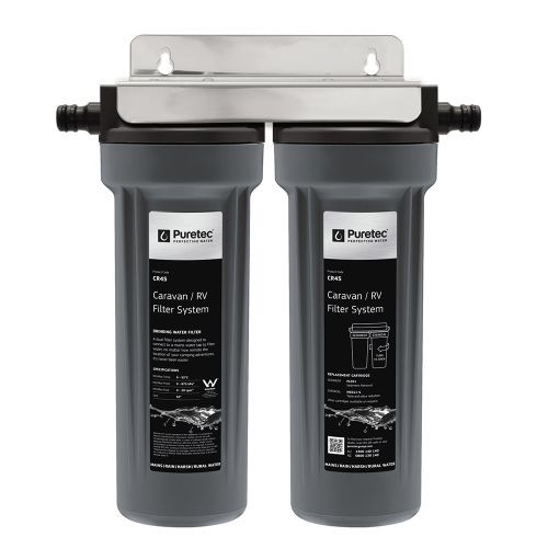 "Caravan Water Filter Kit, Twin Housing with PL051 & MC011-S Cartridges, 10"" [132851]"