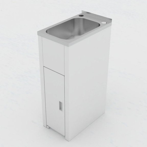 Utility Mini Laundry Tub and Cabinet with Floor [138987]