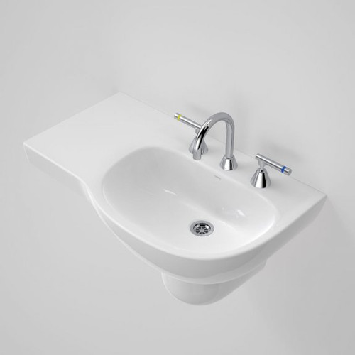 Care 700 Wall Basin with Left Hand Shelf - 3TH [192201]