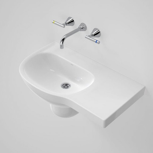Care 700 Wall Basin with Right Hand Shelf - 0TH [192204]