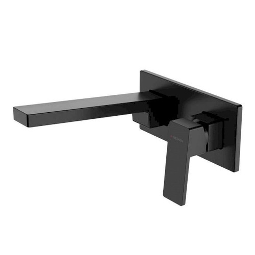 Blaze Plate Mount Basin Mixer with 200mm Spout - Matte Black [165560]