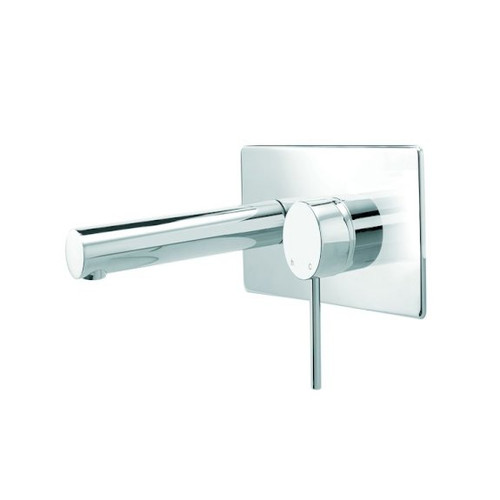 Minimalist Wall Mounted Basin Mixer with Plate - 4 Star [192596]