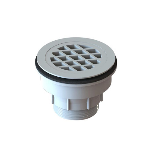 Plastic Shower Base Waste, 80mm with 50mm outlet, White [025281]