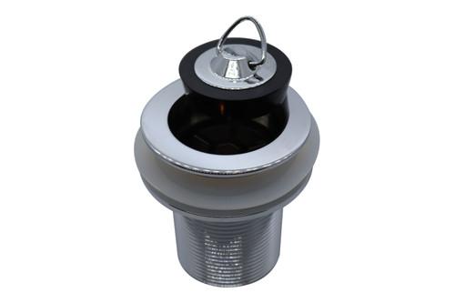 Plug and Waste 40mm x 70mm Brass with Bowen Plug. Chrome [026075]