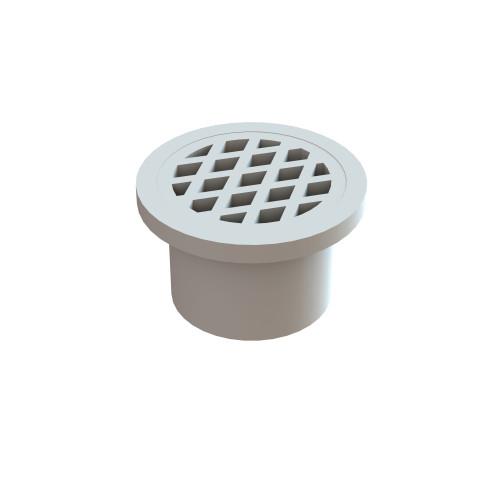 Plastic Round Floor Waste, In Pipe, 50mm. White [024850]