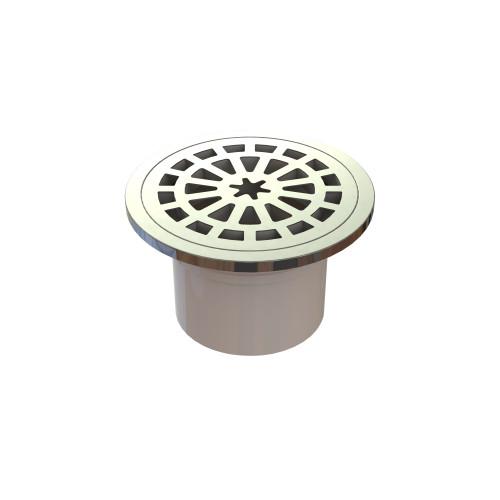 Plastic Round Floor Waste, 100mm In Pipe. Stainless Steel [024953]