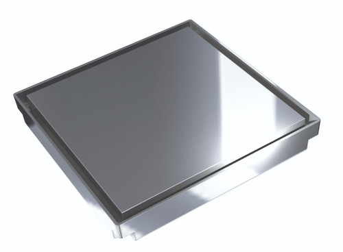Bermuda Deluxe Square Reflections 150mm Floor Waste, 100mm outlet. Chrome [139679]