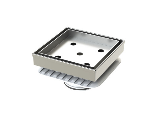 316 Stainless Steel Tile Insert Floor Waste with Megaflex™ Flange, 50mm outlet [190275]