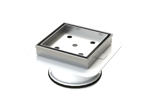 316 Stainless Steel Tile Insert Floor Waste with Megaflex™ Flange, 100mm outlet [190277]