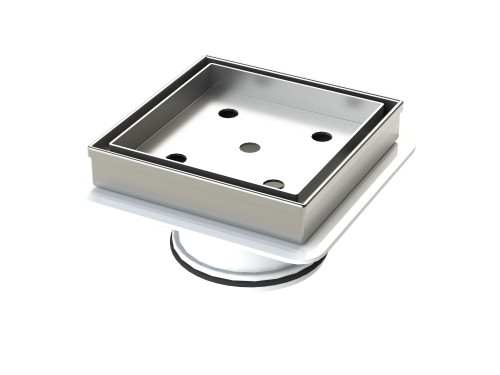 316 Stainless Steel Tile Insert Floor Waste with Megaflex™ Flange, 80mm outlet [190276]