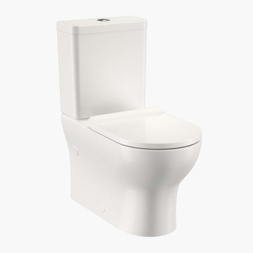 Round Back To Wall Toilet Suite - Back Entry (Slimline Seat) [157698]