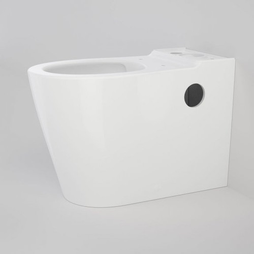 Care 660 Cleanflush Wall Faced Close Coupled Easy Height Back Entry Pan with Armrest Holes [191916]