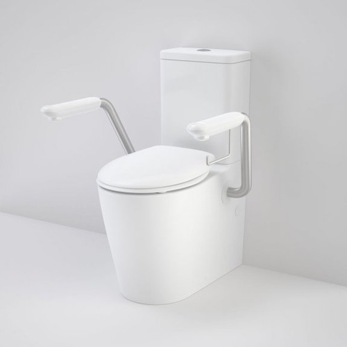 Care 660 Cleanflush Wall Face Close Couple Easy Height BI Suite with Armrests and Caravelle Double Flap Seat White [191991]