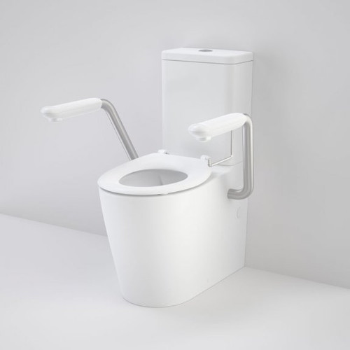 Care 660 Cleanflush Wall Faced Close Coupled Easy Height BI Suite with Armrests and Caravelle Single Flap Seat White [191994]