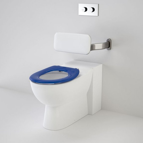 Leda Care Invisi Series II® Wall Faced Suite with Backrest and Caravelle Care Single Flap Seat - Sorrento Blue [192033]