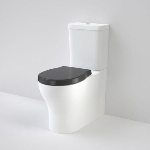 Opal Cleanflush Easy Height Wall Faced Close Coupled Suite with Double Flap Seat Black [192084]