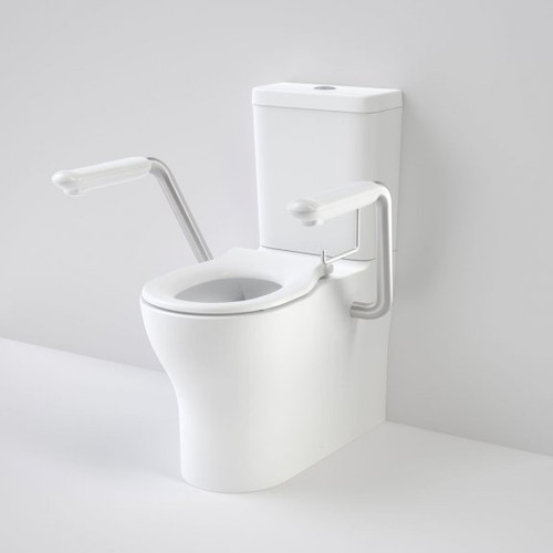 Opal Cleanflush Easy Height Wall Faced Close Coupled Suite with Single Flap Seat and Armrest [192091]