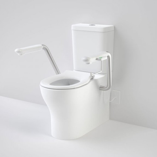 Opal Cleanflush Easy Height Wall Faced Close Coupled Suite with Single Flap Seat and Nurse Call Armrest Left [192092]