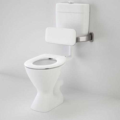 Cosmo Care V2 Connector (P Trap) Suite with Backrest and Caravelle Care Single Flap Seat - White [192067]