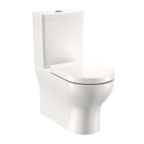 Round Back To Wall Toilet Suite - Bottom Inlet (High Profile Seat) [192290]