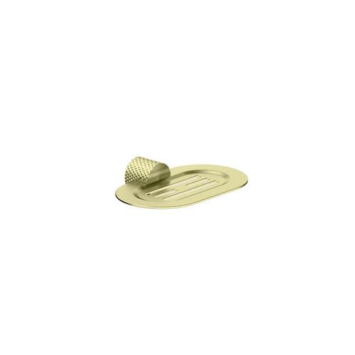 Soap Dish Holder-Brushed Gold [195820]