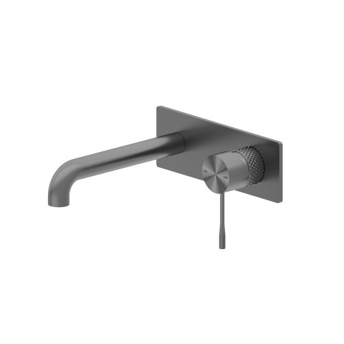 Wall Basin Mixer with Back Plate -Graphite [195787]
