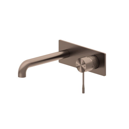 Wall Basin Mixer With Back Plate -Brushed Bronze [195789]