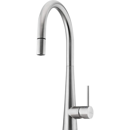 Oliveri Essente Stainless Steel Goose Neck Pull Out Mixer [153581]