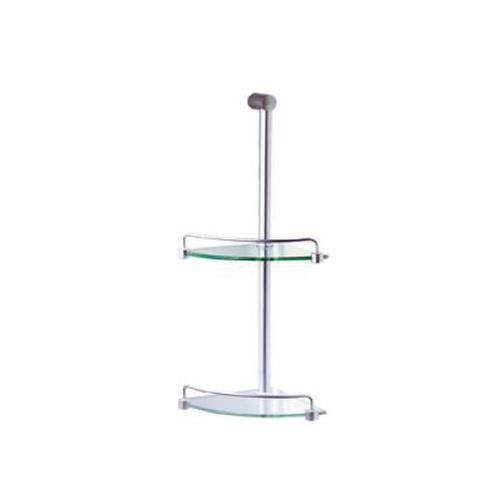 Flinders Shower Tidy 525 2-Tier Chrome/Glass [080687]