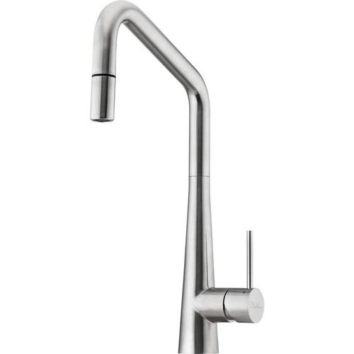Oliveri Essente Stainless Steel Square Goose Neck Pull Out Mixer [153584]