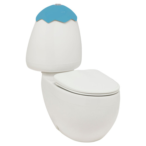 Egg Junior C/C Toilet Suite Blue Lid Incl Sc Seat & Stnd Cnctr [198285]