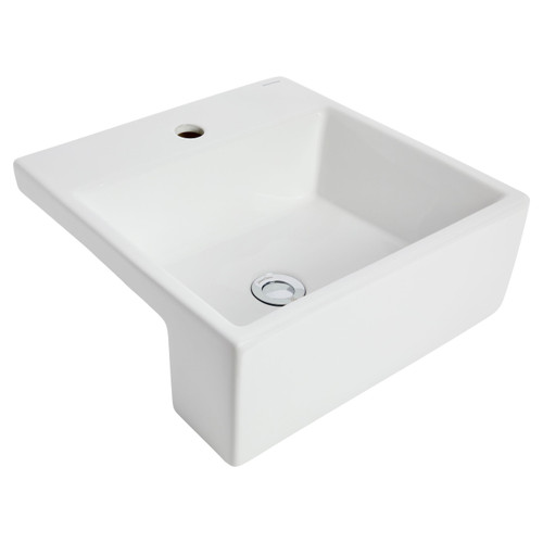 Quado Iii Semi Recessed Basin 410X410 1Th Ch Pop-Up [198827]