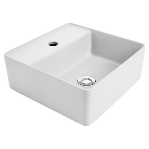Venezia Square C/T Basin 350X350 1Th White W/Chr Pop-Down [198832]